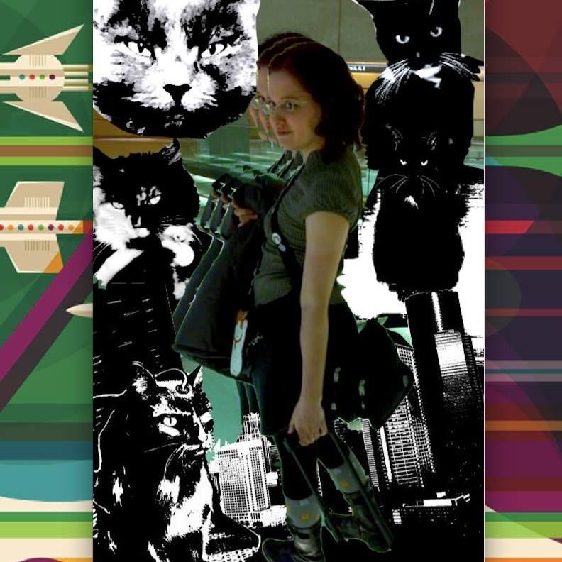 Dana Bio Pic with Cats